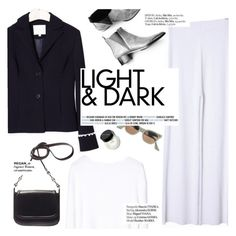 """""""Light&dark"""" by punnky ❤ liked on Polyvore featuring Acne Studios, Haute Hippie and Bobbi Brown Cosmetics"""