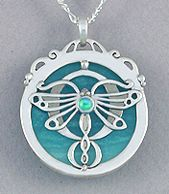 Beautiful dragonfly pendant from Kelly Morgen Jewelry