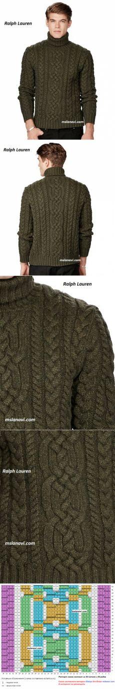 Мужской свитер спицами | Вяжем с Лана Ви
