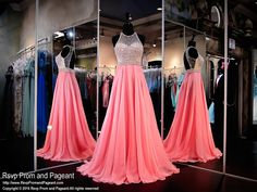 Step up your game in this beautiful gown with intricate beaded bodice, strappy open back design and flowing chiffon skirt. Oh so pretty and it's at Rsvp Prom and Pageant, your source for the HOTTEST Prom and Pageant Dresses!