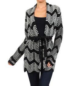Black & White Wave Cardigan