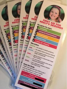 Home made seizure cards can help your child in an emergency - and give you a little peace of mind to Seizures In Children, Stella Mae, Multiple Disabilities, Learning Disabilities, Camping Gifts, Medical Information, Epilepsy, Nurse Life, Kids Health