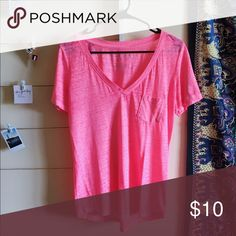 Pink Aero Top Loose bright pink top that's in great condition. Aeropostale Tops Tees - Short Sleeve