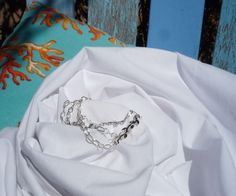 Silver Leaves Three Chang Chain bracelet. $7.00