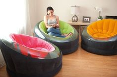 Comfy...This site has a lot of inexpensive inflatable furniture. But still, always double check other sites to get the best prices