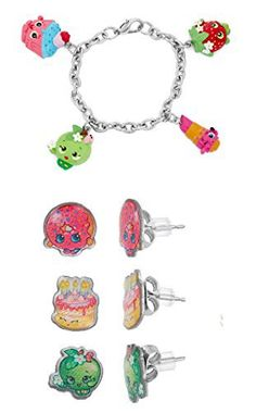 The hottest gift for the holiday season ! Perfect gift for any girl ! Great for Christmas time, birthdays, etc. Make the litle girl in your life the happiest princess this holiday season ! Stainless Steel Shopkins 1 trio pairsof Earring set ! D'Lish Donut, Wishes, Apple Blossom . + Shopkins... more details available at https://perfect-gifts.bestselleroutlets.com/gifts-for-holidays/toys-games/product-review-for-shopkins-stainless-steel-earring-sets-shopkins-painted-charac