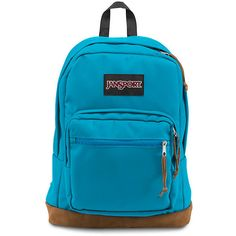JanSport Right Pack Backpack Blue Crest ($58) ❤ liked on Polyvore featuring bags, backpacks, rucksack bag, blue suede bag, jansport, blue bag and backpacks bags