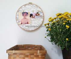 $12.00 Hang your Instagram photos and mementos on this lace embroidery hoop. Photos are printed for you and included with purchase