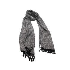 Pashimina Floral Cinza em tecido de viscose florido na cor cinza com preto.#pashmina #pashimina #modafeminina #fashion #scarf #scarfs