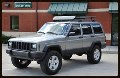 Lifted Cherokee Sport XJ For Sale - Lifted Jeep Cherokee - Built Jeep Cherokee — Davis Autosports Modificaciones Jeep Xj, Jeep Wrangler Lifted, Jeep Jl, Jeep Cherokee Lift Kits, Badass Jeep, Cherokee Limited, Old Jeep, Dream Cars, 4x4