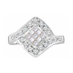 14KT White Gold 0.50 CTW DIAMOND LADIES INVISIBLE RING