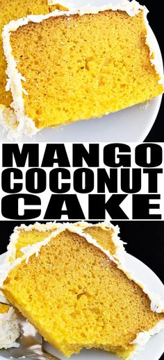 This tropical and easy mango cake recipe from scratch with mango frosting is a delicious Summer dessert. It's soft and moist and bursting with fruity mango and coconut flavors. Cake Recipes From Scratch, Easy Cake Recipes, Cupcake Recipes, Baking Recipes, Cheesecake Desserts, Köstliche Desserts, Pavlova, Easy No Bake Desserts, Delicious Desserts