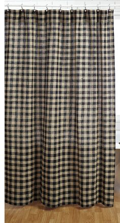 Check Cotton Shower Curtain