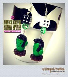 Orecchini   Earrings NON C'E' CACTUS SENZA SPINE - OUT SPECIAL EDITION (Mod. Rockabilly)