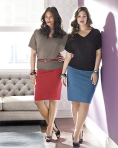 Ponte Knit Pencil Skirt. Pencil skirts are super sexy for all seasons and occasions! #lanebryant