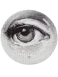 White and black monochrome eye tray from Fornasetti. Featuring a round shape and a monochrome print of an eye. Contemporary Vases, Eye Pictures, Piero Fornasetti, Eye Art, Everyday Objects, Cute Wallpapers, Creations, Graphic Design, Drawings