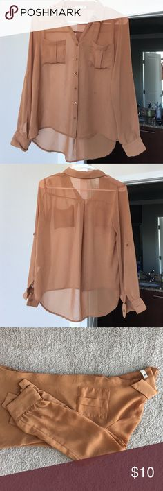 Sheer Buttondown Blouse Simplistic buttondown top in good condition. I suggest bundling this item! Tops Blouses