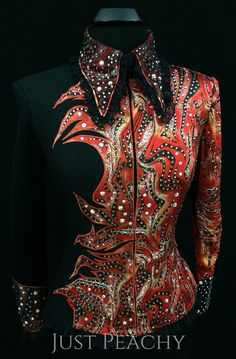 Red and Black Western Horse Show Jacket by Juhlz ~ Just Peachy Show Clothing