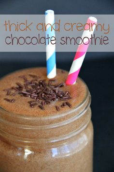An intense chocolate smoothie that's thick and creamy without being loaded with sugar and fat. Perfect as a healthy snack or meal option.