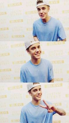 Justin Bieber looks so hot in blue🙌👕💙but what doesn't he look good in so.