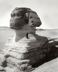 Great Sphinx - look how little that guy is on his shoulder