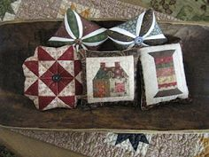 pincushions for christmas through the year
