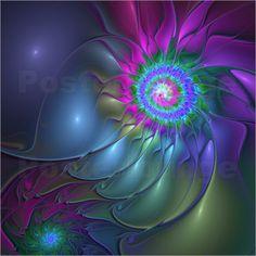 gabiw Art - Fraktal Abstrakte Blüte