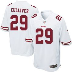men nike san francisco 49ers 29 chris culliver game white nfl jersey sale