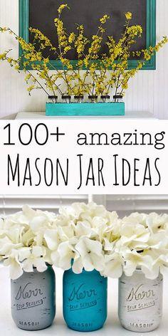 tons of great mason jar craft ideas
