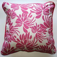 Cushion Protea Flowers Pink - Katz Designer Textiles