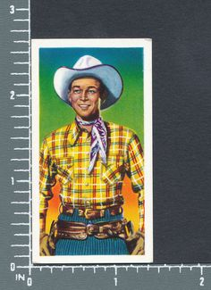 Roy Rogers - Western Stars C.W.S. Jaycee Tipped cigarette tobacco card #24