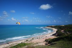 Paragliding on Praia do Amor, five minutes walk from the apartment