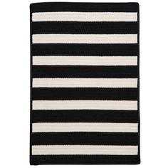 Colonial Mills Stripe It Black & White Indoor/Outdoor Area Rug