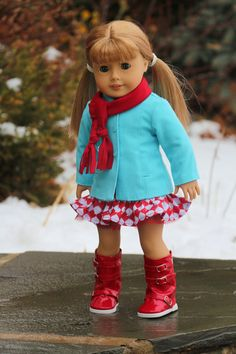 American Girl Doll Clothes Tis the Season. Blue by NoodleClothing