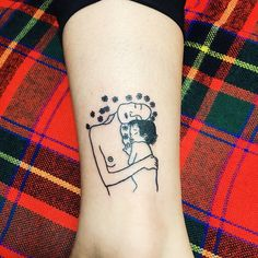 #tattoo#linetattoo #klimt#motherandbaby#부산타투#남포동타투#믹히MICHEY#발목타투#클림트