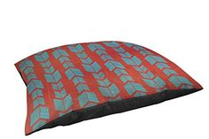 Thumbprintz IndoorOutdoor Large Breed Pet Bed Featherwood Turquoise Red -- You can find out more details at the link of the image.