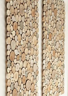 wooden wall art a set of 2 Tree rounds decor by FreeTreeStudio