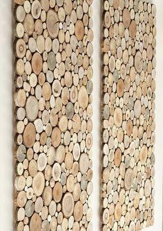 Een set van 2 dubbele muur planken van boom segmenten. Mooi en oryginal muur opknoping decoratie. Wij bieden u een set van twee twin unieke