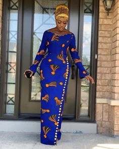 Lovely African Print Dress, Classic Ankara Dress, African Dress - Women's style: Patterns of sustainability Long African Dresses, African Print Dresses, African Dress Designs, African Prints, Long Ankara Dresses, Ankara Dress Designs, African Print Skirt, Ankara Gowns, Prom Dresses