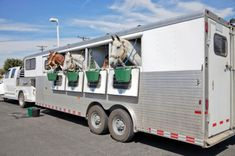 Great idea for watering horses during a rest stop.