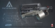 pathfinders shotgun, Kris Thaler on ArtStation at https://www.artstation.com/artwork/lzDyo