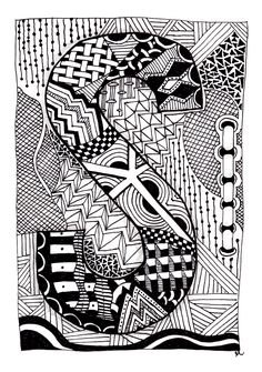 Images For > Easy Zentangle Patterns For Kids Mandala Art Therapy, Mandala Art Lesson, Cool Art Drawings, Easy Drawings, Zentangle Drawings, Zentangles, Easy Zentangle Patterns, Zantangle Art, Doodle Art Designs