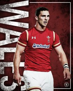 Poster for the six nations of welsh rugby player george north Welsh Rugby Players, Six Nations Rugby, Gorgeous Men, Mens Tops, T Shirt, Poster, Supreme T Shirt, Tee Shirt, Tee
