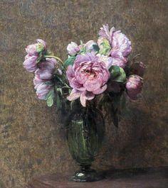 .:. Henri Fantin Latour. 1836-1904. Paris. Pivoines . Peonies. 1882. Rotterdam. Boijmans van Beuningen.