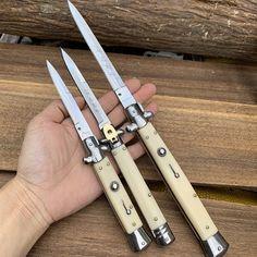 Ninja Weapons, Weapons Guns, Blade City, Switchblade Knife, Arte Ninja, Automatic Knives, Knife Art, Cool Knives, Knife Handles