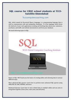 Sql course for cbse school students at tcci satellite ahmedabad