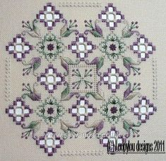 Buy Purple Delight Hardanger Chart Pack online at sewandso.co.uk