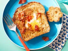 Kids can use their favorite cookie cutter shapes to make this hearty breakfast with a grilled cheese-like twist.