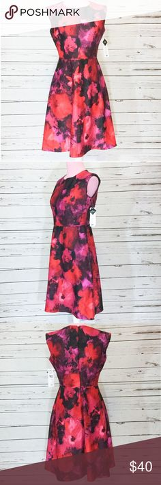 Studio One Floral Professional Cocktail Dress NWT Studio One Floral Professional Cocktail Dress. Size 2 Petite. New with tags. NWT. Mid length dress with slight cap sleeves. Sleeveless appearance. Would be a great day to night dress. This can be worn with a blazer to work or by itself for a night out. Studio One Dresses