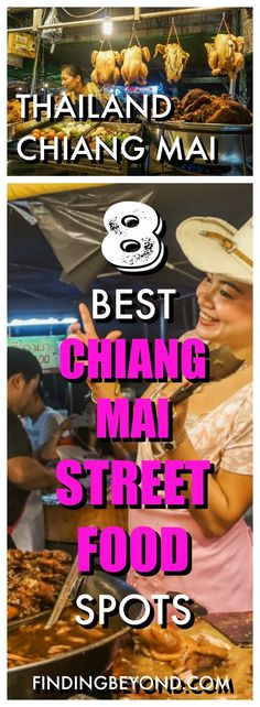 Chiang Mai Street Food: The 8 Best Cheap Eat Spots There's so much delicious street food in Chiang Mai. It can be overwhelming! In this post we show you our 8 best Chiang Mai street food spots. Get stuck in! Thailand Adventure, Thailand Travel Tips, Visit Thailand, Thailand Vacation, Travel Blog, Foodie Travel, Asia Travel, In China, Vietnam